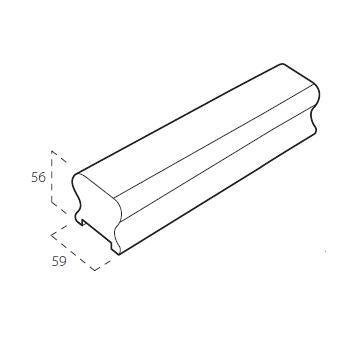 Oak Cheshire Pattern Handrail 2